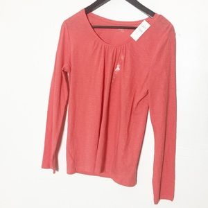 NWT LOFT Coral Orange Long Sleeve Shirt